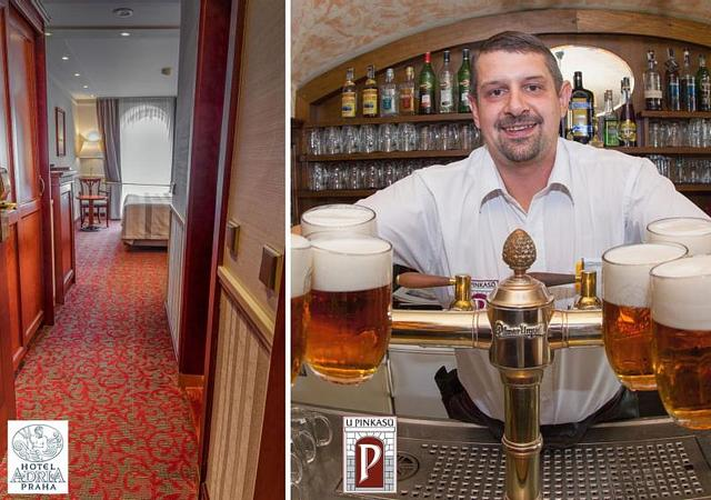 Adria Hotel Prague | Prague | PRAGUE PACKAGE FOR TWO WITH BEER TASTING IN THE LEGENDARY RESTAURANT U PINKASU